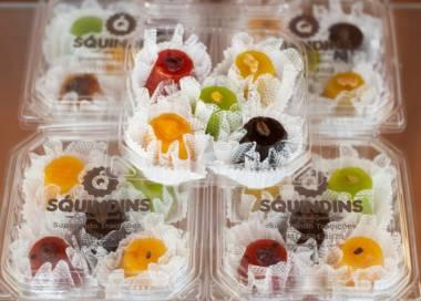Caixa de mini quindins gourmet com 5 unidades